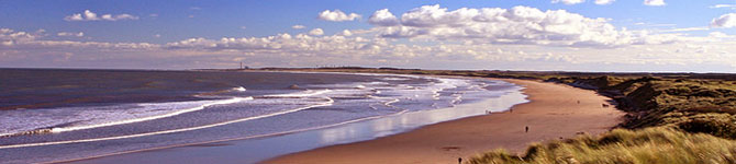druridge bay in northumberland